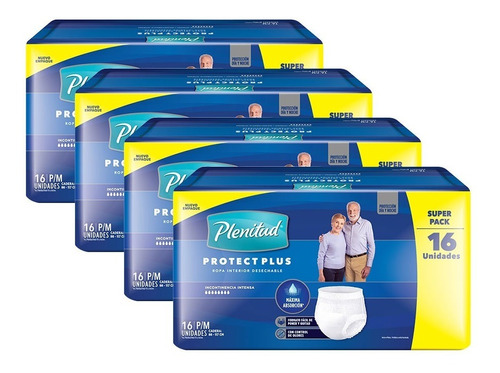 Plenitud Protect Plus Ropa Interior X 16 Pack X 4