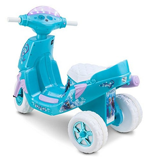 Kid Trax Frozen Twinkling Luces Scooter 6 V Girl
