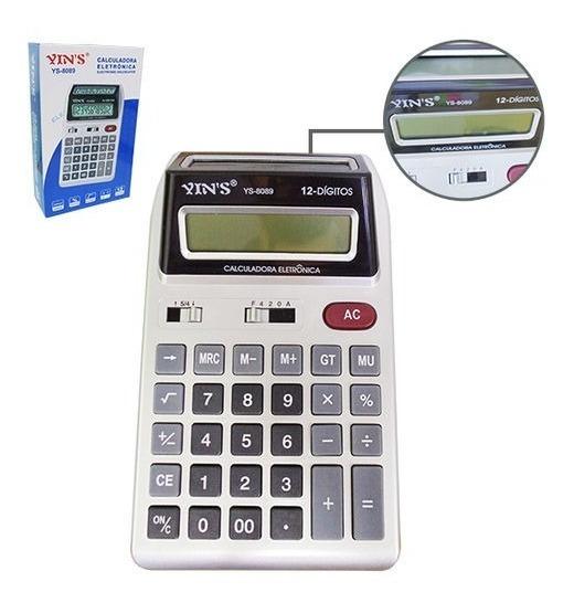 Calculadora De Mesa Display Duplo Visor Grande Yin
