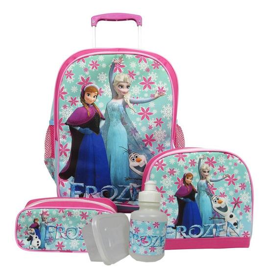 Kit Escolar Infantil Mochila Frozen Tamanho G + Brindes!!!