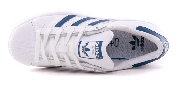 adidas Zapatillas Niños Superstar J Blanco / Azul
