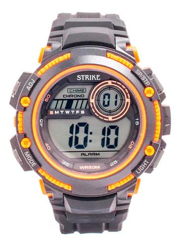 Reloj Strike Watch Resina M1200-0aia-bkor Hombre Original