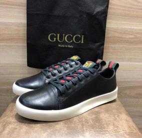 8726f2b5ec0 Tenis Sapatenis Gucci Ace Tigre Masculino Frete Gratis