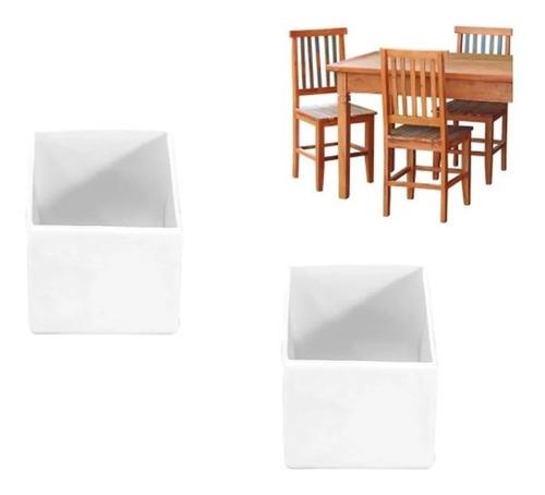 Ponteira Pé De Cadeira Mesa Banqueta Quadrada 2x2cm - 4 Pç