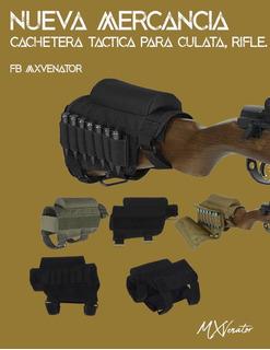 Cachetera Tactica Culata Rifle Caceria, Campismo Tiro Pesca