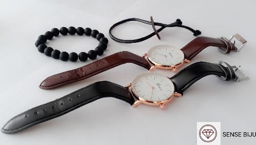 Kit Relógio E Duas Pulseiras