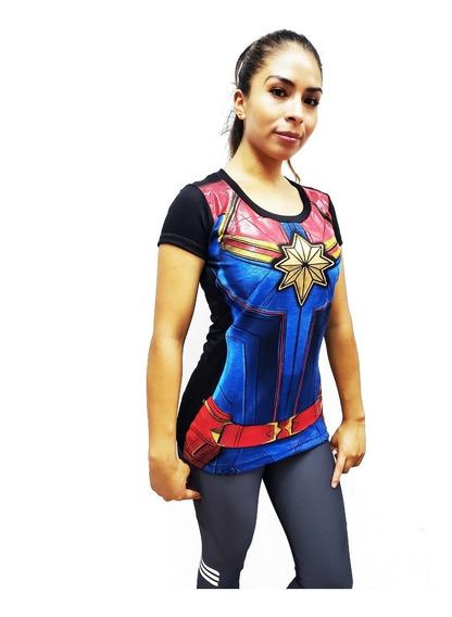 Playera Capitana Marvel Avengers End Game Mujer