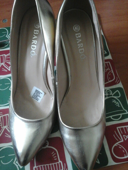 Zapatos De Tacón Alto Dorados