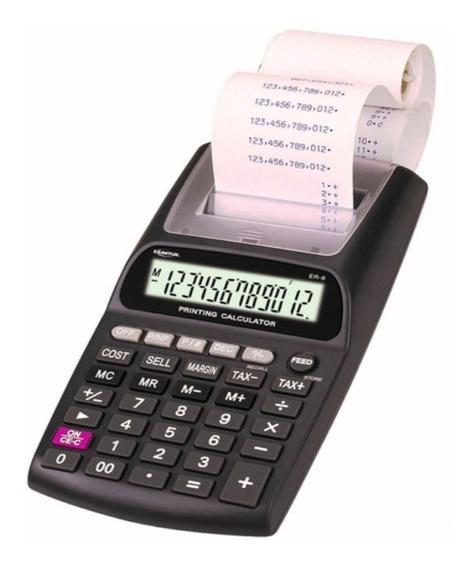 Calculadora Impresora De Escritorio Exaktus Er-8 12 Digitos