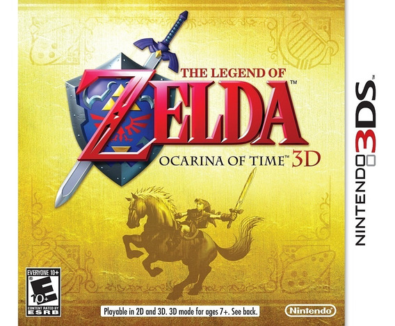 The Legend Of Zelda Ocarina Of Time 3d 3ds Mídia Física Semi