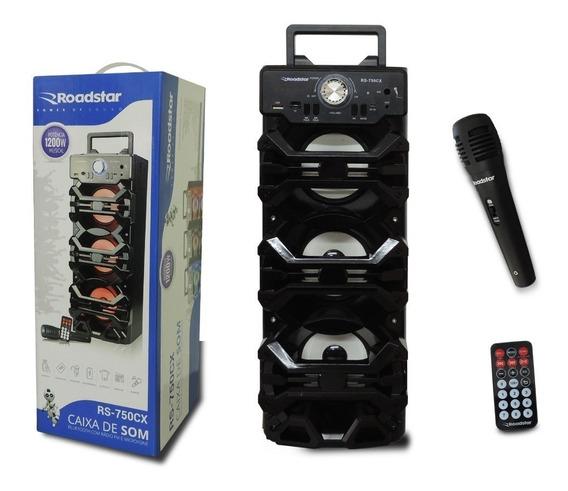Caixa De Som Amplificada Bluetooth Bateria Usb Mp3 Radio Fm