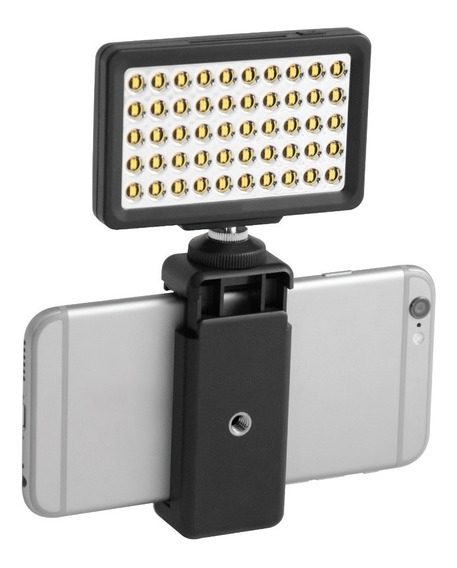 Luz 50 Led Para Smartphones Y Cámara Iluminación 8 Niveles