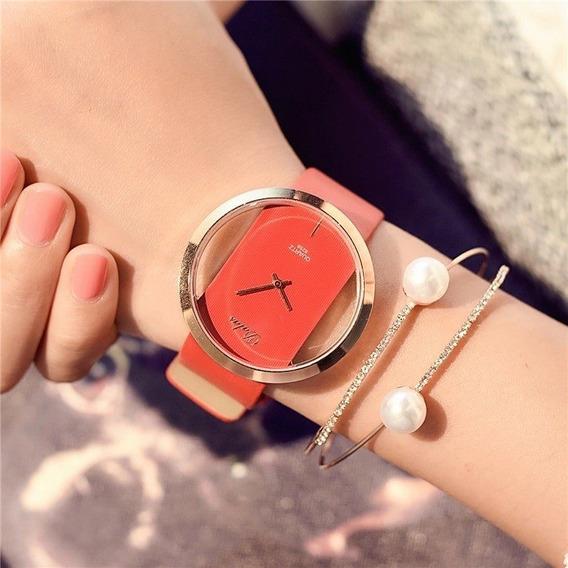 Relógio De Pulso Transparente Dalas Feminino