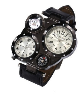 Reloj Tipo Militar Simil Ruso Con Brujula Y Temperatura