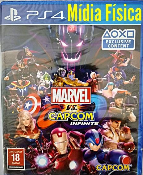 Ps4 Marvel X Capcom Infinite Midia Fisica Lacrado Leg Pt