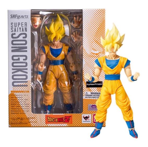 Dragon Ball Goku Ssj Sh Figuarts Bandai Lacrado Original