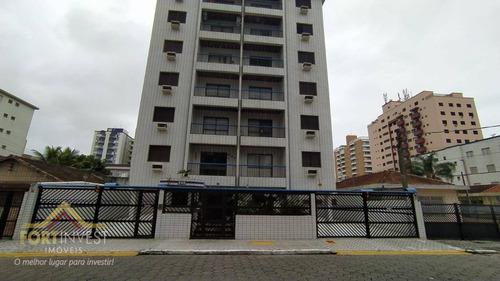 Imagem 1 de 7 de Apartamento Com 1 Dormitório À Venda, 45 M² Por R$ 195.000,00 - Vila Guilhermina - Praia Grande/sp - Ap2350