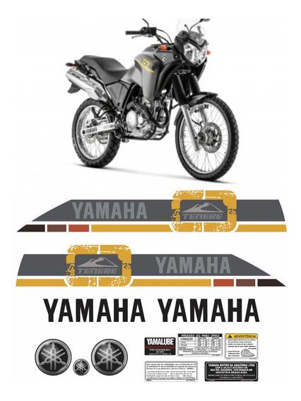 Kit Completo Adesivo Yamaha Tenere 250 2016 Cinza Tnr018 Fgc