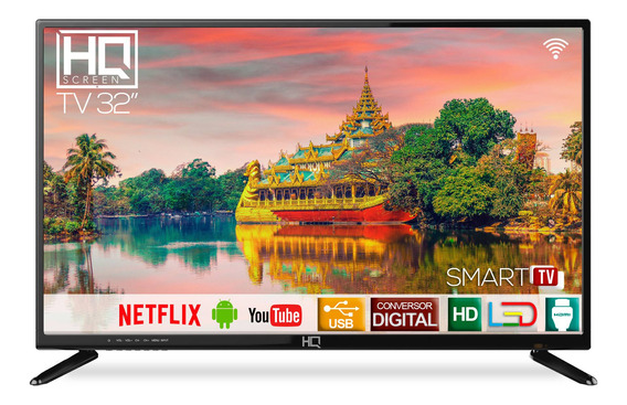 Smart Tv Led 32 Hq Hd Hqstv32n Com Conversor Digital