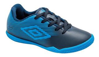 Tenis Futsal Umbro F5 Light Jr Infantil Azul - Original + Nf