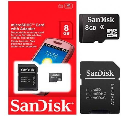 Cartão De Memoria Micro Sd Sandisk 100% Original 8gb