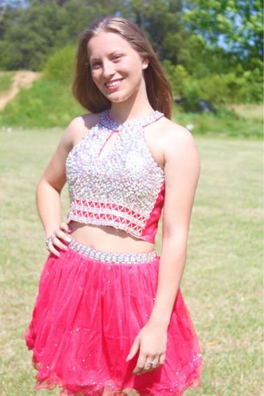 Vestido Quinceañera 15años Cumpleaños Xv Coral Rosado Fiesta