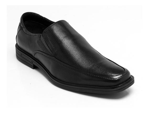 Sapato Ferracini Couro Preto 5920-1533g