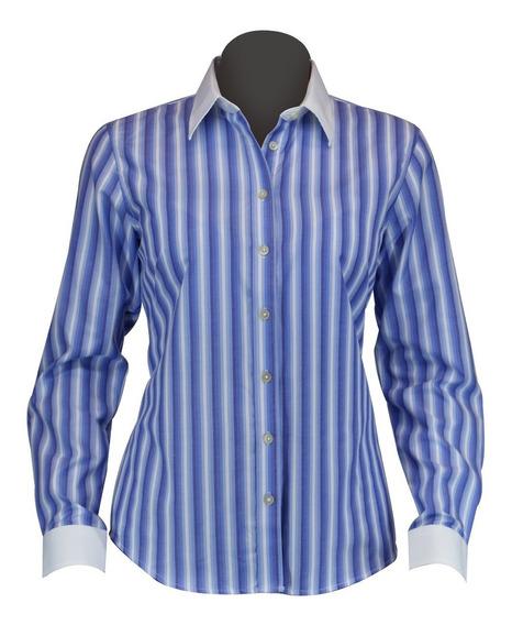 Blusa/camisa De Vestir Dama Manga Larga Moderna, Algodón