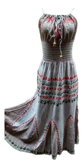 Vestido Rani Indiano Ciganinha Longo Estampado Plus Size