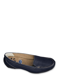 Zapatos Flat Mocasin Azul Dr Scholls Dama Piel Udt G30467