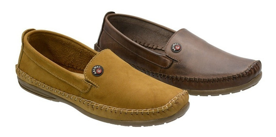 Mocassim Masculino Drive Couro 2 Pares Galway 760nl