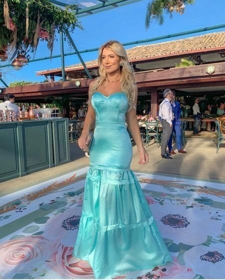 Vestido Festa Azul Tiffany Madrinha Casamento Lindo - Tule