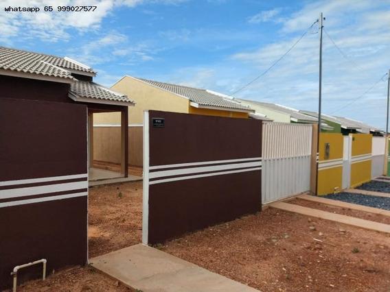 Casa Para Venda Em Várzea Grande, Novo Mundo, 2 Dormitórios, 1 Banheiro, 2 Vagas - 367_1-1341011