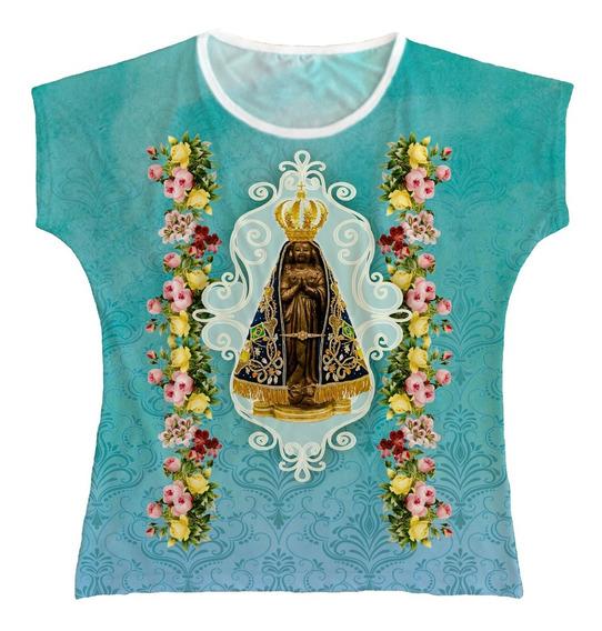 Blusa Religiosa Bata Feminina N Senhora Aparecida Bta008
