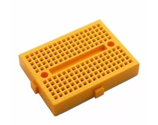 Mini Protoboard Com 170 Pontos, (cor Amarelo)