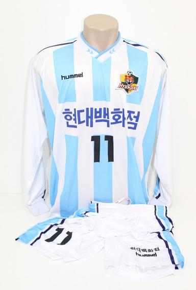 Camisa E Calção Originais Ulsan Hyundai Away #11 Hummel