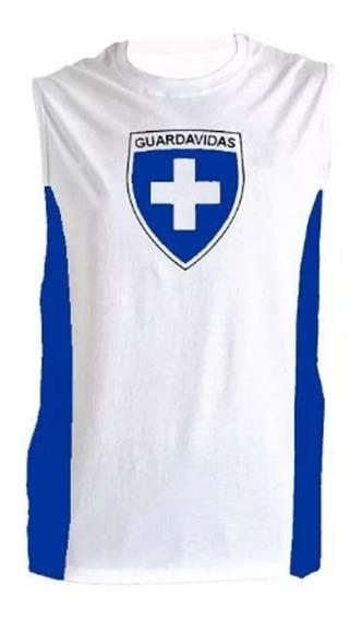 Musculosa Guardavidas Combinada Blanco/azul