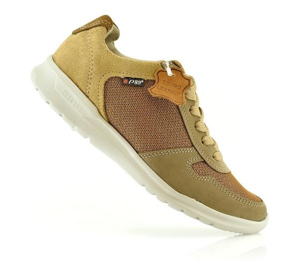 Zapatillas Mujer Cuero Urbanas 217552-03 Pegada Luminares