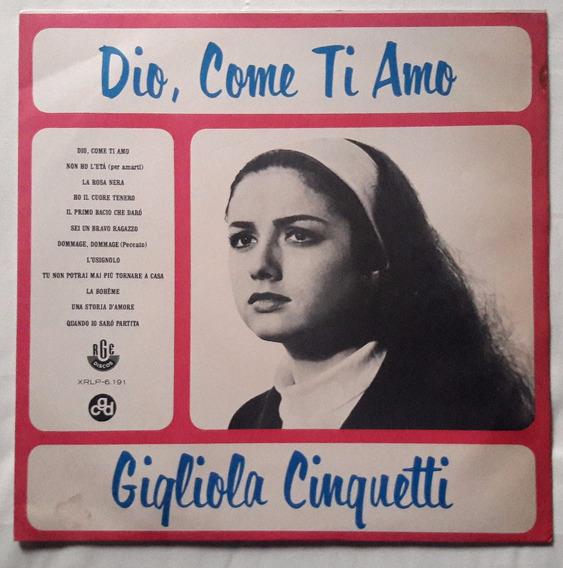 Lp Gigliola Cinquetti/dio,come Ti Amo/1967/raro/bom Estado