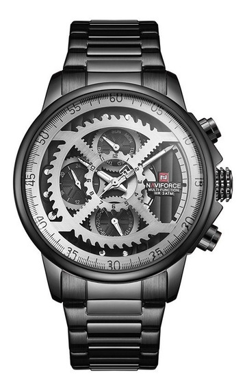 Relógio Naviforce Masculino Metal/couro