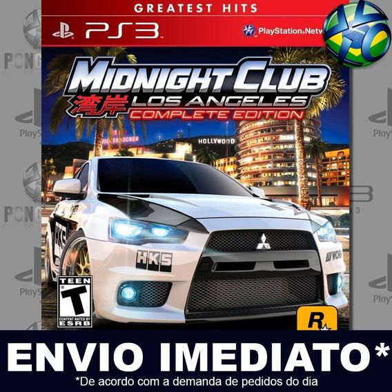 Midnight Club Los Angeles Complete Edition Ps3 Psn Promoção
