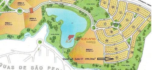 Terreno À Venda, 490 M² Por R$ 150.000,00 - Águas Do Campo - São Pedro/sp - Te0653
