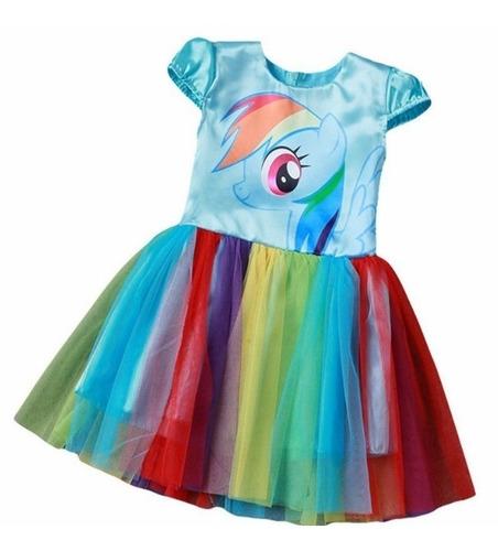Imagem 1 de 3 de Fantasia Vestido Aniversário Infantil   Unicórnio Promoção