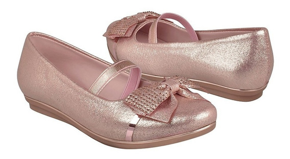 Zapatos Casuales Para Niña Miss Pink 181090 Oro Rosado