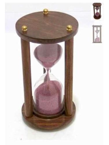 Reloj De Arena Con Base De Madera C7123