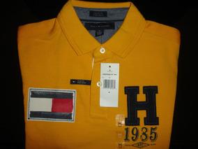 Camiseta Polo Tommy Hilfiger Short Sleeve Flag Logo Stitche