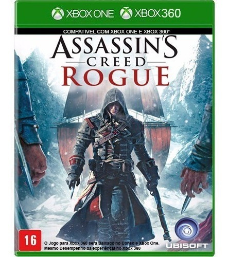 Jogo Assassins Creed Rogue Xbox 360 E Xbox One Midia Fisica