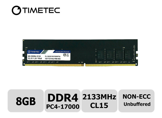 Memoria Ram 8gb Timetec Hynix Ic Ddr4 2133mhz Pc4-17000 Unbuffered Non-ecc 1.2v Cl15 1rx8 Single Rank 288 Pin Udimm Modu