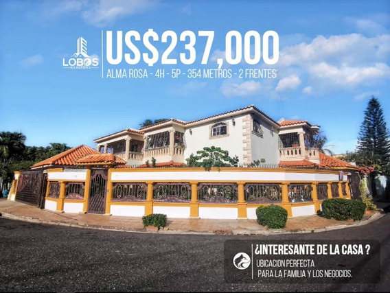 Casa Con 2 Frentes En Alma Rosa Santo Domingo Este