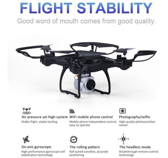 Drone Yi Le Toys Preto Com Câmera Hd